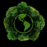 Ecology planet with with trees around. eco earth. Stock Image