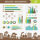 Ecology and pollution abstract infographics illustration Stock Images