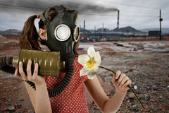 Ecology pollution Stock Images