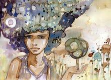Ecology portrait stock illustration