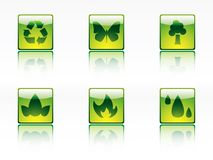 Ecology,power and energy icons Royalty Free Stock Photo