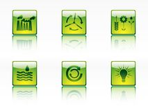 Ecology,power and energy icons Stock Photography