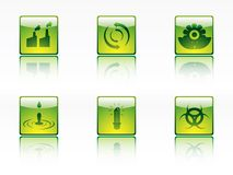 Ecology,power and energy icons Stock Photo