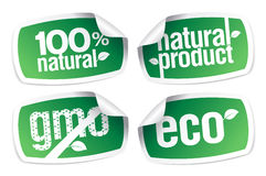Ecology product stickers Royalty Free Stock Photos