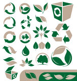 Ecology and recycle icons Stock Image