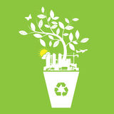 Ecology and recycle icons label Royalty Free Stock Photo