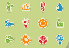 Ecology and recycle icons. Ecology and recycle symbols  icon set Royalty Free Stock Images