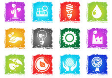 Ecology and recycle icons Stock Images
