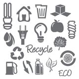 Ecology and recycle icons Royalty Free Stock Photography