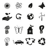 Ecology and recycle icons Stock Photography