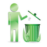 Ecology - recycle, keep clean, environment Royalty Free Stock Photos