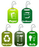 Ecology and recycle tags Royalty Free Stock Photography