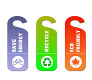 Ecology and recycle tags for environmental design Stock Photo