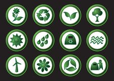 Ecology and recycling icons Stock Images