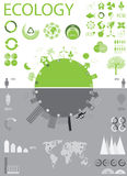 Ecology, recycling info graphics collection stock illustration
