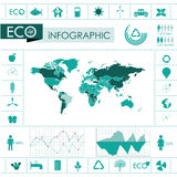 Ecology, recycling info graphics collection Stock Photography