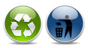 Ecology and recycling signs Royalty Free Stock Photography