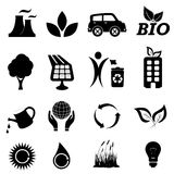 Ecology related symbols. Ecology and environment related symbols Stock Images
