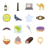 Ecology, religion, animal and other web icon in cartoon style.Charity, building, magic icons in set collection. Ecology, religion, animal and other  icon in Royalty Free Stock Images