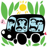 Ecology School Bus Royalty Free Stock Image