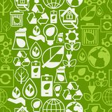 Ecology seamless pattern with environment icons. Stock Image