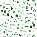 Ecology seamless pattern. Green planet  background Stock Photo