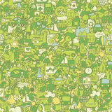 Ecology seamless pattern Royalty Free Stock Image