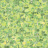 Ecology seamless pattern Stock Photos