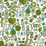 Ecology seamless pattern Royalty Free Stock Photo