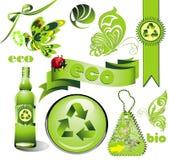 Ecology set Stock Photos