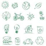 Ecology set. Beautiful Set of ecology icons Stock Photography