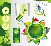 Ecology set Stock Image