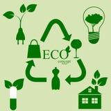 Ecology set Stock Photography