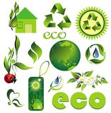 Ecology set of elements Royalty Free Stock Photo
