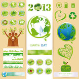 Ecology sets Royalty Free Stock Images