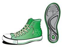 Ecology shoe. With sole sheet isolated on white Royalty Free Stock Photo