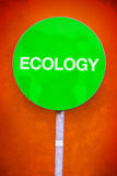 Ecology Sign Stock Image