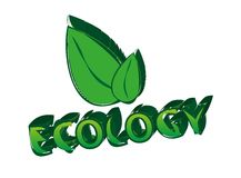 Ecology Sign With Leaves Symbol Royalty Free Stock Images