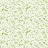 Ecology signs and icons seamless pattern Stock Image
