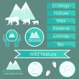 Ecology signs and symbols of polar bears royalty free illustration