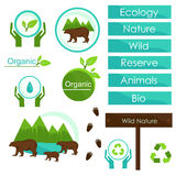 Ecology signs and symbols, Wildlife Bears Royalty Free Stock Photography