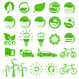 Ecology simple icons set Royalty Free Stock Image