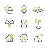 Ecology simple vector icon set Stock Images