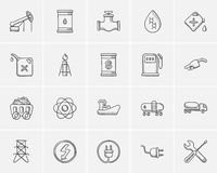 Ecology sketch icon set. Royalty Free Stock Photography