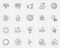Ecology sketch icon set. Stock Photo