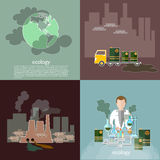 Ecology smog in the city Stock Photography