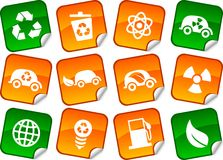 Ecology  stickers. Stock Photography
