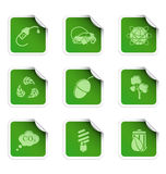 Ecology stickers 3 Royalty Free Stock Images