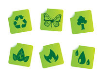 Ecology stickers Stock Image
