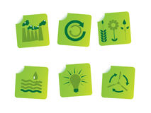 Ecology stickers Royalty Free Stock Image